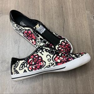 COACH | Bev Poppy Pink Floral Slip On Sneakers
